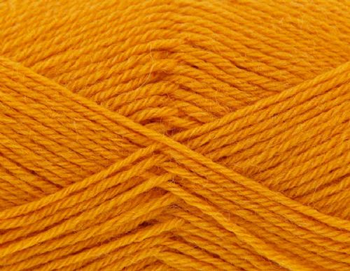 King Cole Pure Wool Yarn 500g Cone 4ply - Mustard